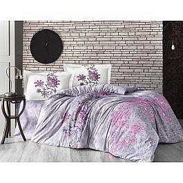 Постельное белье Altinbasak КПБ RANFORCE NEON ESMERALDA (Евро), серый постельное белье altinbasak кпб ranforce neon karel евро розовый