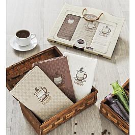 цена Наборы полотенец для кухни Karna Набор салфеток c вышивкой