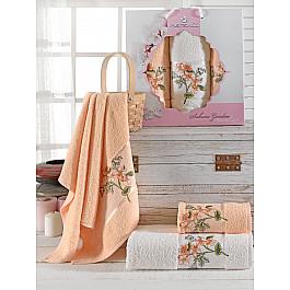 Полотенца Merzuka Комплект махровых полотенец Merzuka Sakura Garden (50*80*2; 70*130), оранжевый