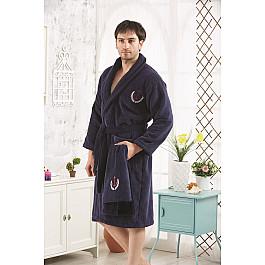 цена на Халат махровый Karna Халат микрокотон с вышивкой мужской