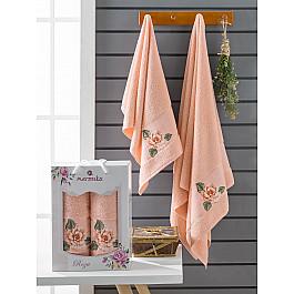 Полотенца Merzuka Комплект махровых полотенец Merzuka Roza (50*90; 70*140), оранжевый полотенца merzuka комплект махровых полотенец merzuka roza 50 90 2 70 140 кремовый