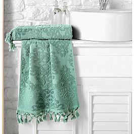 Полотенца Karna Полотенце махровое жаккард KARNA OTTOMAN, зеленый, 50*90 см цена