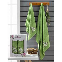 Полотенца Merzuka Комплект махровых полотенец Merzuka Roza (50*90; 70*140), зеленый полотенца merzuka комплект махровых полотенец merzuka roza 50 90 2 70 140 кремовый