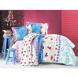 Постельное белье Altinbasak КПБ RANFORCE NEON LORANCE (Евро), голубой постельное белье altinbasak кпб ranforce neon karel евро розовый
