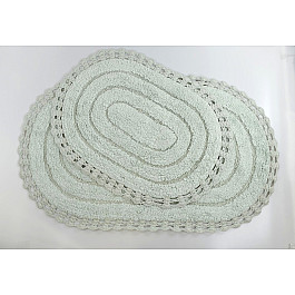 Коврик для ванной Modalin Набор ковриков для ванной кружевной MODALIN YANA (60x100; 50x70), ментол razina tat yana valer evna nauchnaya refleksiya