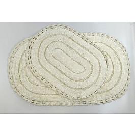 все цены на Коврик для ванной Modalin Набор ковриков для ванной кружевной
