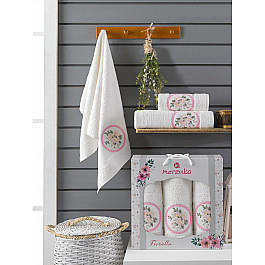 Полотенца Merzuka Комплект махровых полотенец Merzuka Fiorella (50*90*2; 70*140), кремовый полотенца merzuka комплект махровых полотенец merzuka roza 50 90 2 70 140 кремовый