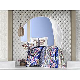 Постельное белье Altinbasak КПБ RANFORCE NEON SELVA (Евро), синий постельное белье altinbasak кпб ranforce neon karel евро розовый
