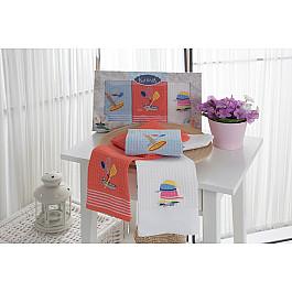 Наборы полотенец для кухни Karna Набор вафельных салфеток KARNA KLORA, 40*60 см - 3 шт набор салфеток karna affagato coffee 40 60 см 2 предмета