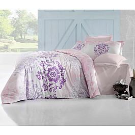 Постельное белье Altinbasak Комплект постельного белья ALTINBASAK ILMA Сатин (2 спальный), розовый цена