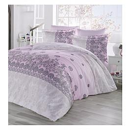Постельное белье Altinbasak КПБ сатин ALTINBASAK LINA (Евро), розовый постельное белье altinbasak ilma сатин eвро