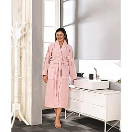 Халат махровый Karna Халат махровый женский KARNA BASIC, розовый, р. S (42) халат махровый арт постель халат банный женский с воротником белый р 5xl