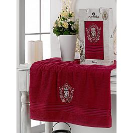 Полотенца Merzuka Полотенце махровое в коробке Merzuka Boss, бордовый, 50*80 см
