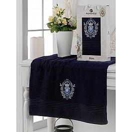 Полотенца Merzuka Полотенце махровое в коробке Merzuka Boss, синий, 70*130 см