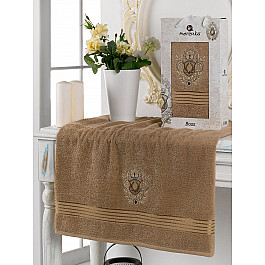 Полотенца Merzuka Полотенце махровое в коробке Merzuka Boss, коричневый, 50*80 см