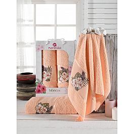 Полотенца Merzuka Комплект махровых полотенец Merzuka Hibiscus (50*80; 70*130), оранжевый