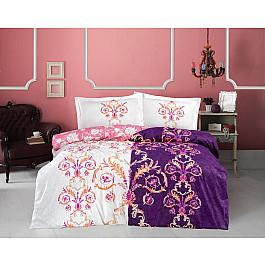 Постельное белье Altinbasak КПБ RANFORCE NEON MONALIZA (Евро), фиолетовый постельное белье altinbasak кпб ranforce neon karel евро розовый