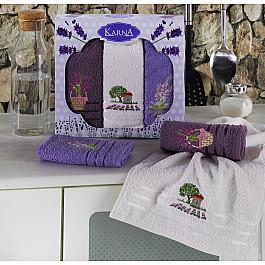 Наборы полотенец для кухни Karna Набор махровых салфеток KARNA LAVITA, v2, 30*50 см - 3 шт набор махровых полотенец issimo home jacquelyn цвет бежевый 30 x 50 см 4 шт