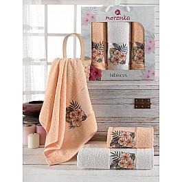 Полотенца Merzuka Комплект махровых полотенец Merzuka Hibiscus (50*80*2; 70*130), оранжевый