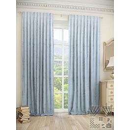 Шторы для комнаты TomDom Комплект штор Шпит, голубой, 260 см комплект штор witerra тергалет 10709 голубой 140 260 см