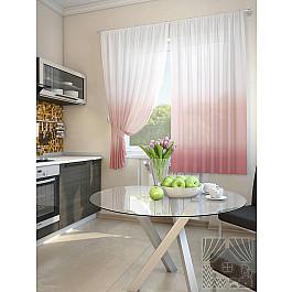 Шторы для кухни TomDom Комплект штор Никар, розово-брусничный, 180 см черный ароматизированный чай брусничный
