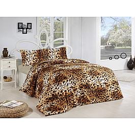Комплект постельного белья CREAFORCE LEOPAR 70x70*2 (1.5 спальный), коричневый