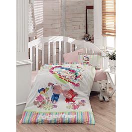Постельное белье Dantela Vita КПБ Ранфорс для новорожденных Dantela Vita Zuzu (Новорожденный) для новорожденных товары оптом