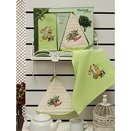 Наборы полотенец для кухни Meteor Комплект вафельных салфеток с вышивкой Meteor Marisol Olive в коробке (50*70; 50*50) marisol martinez beautifully naked