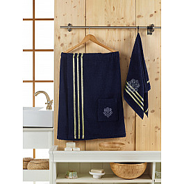 Фото - Комплект для сауны Juanna Набор для сауны махровый мужской JUANNA SEVAKIN, синий сауны
