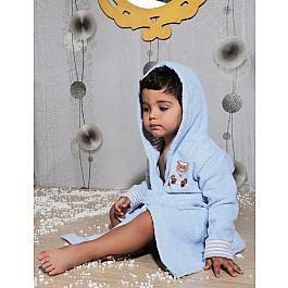Халат махровый Karna Халат махровый детский с капюшоном KARNA TEENY на 2-3 года, голубой детский халат karna teeny 2 3 года голубой