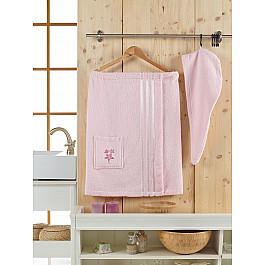 Фото - Комплект для сауны Juanna Набор для сауны махровый женский JUANNA SEVAKIN, светло-розовый кардиган женский oodji цвет светло розовый меланж 63207197 48998 4000m размер s 44