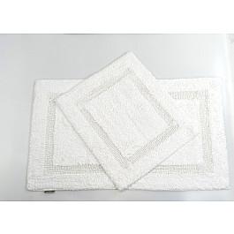 "Набор ковриков для ванной ""MODALIN KARLA"" (60x100; 60x50), белый"