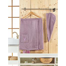 Комплект для сауны Juanna Набор для сауны махровый женский JUANNA SEVAKIN, лиловый