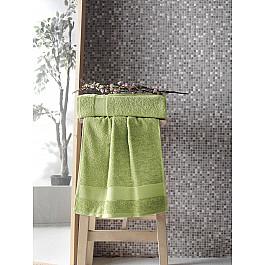 Полотенца Karna Полотенце махровое с жаккардом KARNA MELTEM, зеленый, 50*90 см цена