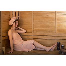 Фото - Комплект для сауны Karna Набор для сауны женский KARNA ARVEN, абрикосовый сауны
