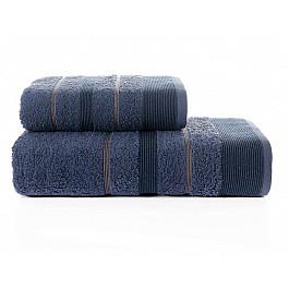 Полотенца Karna Комплект махровых полотенец KARNA REGAL SET (50*90; 70*140 см), синий цена
