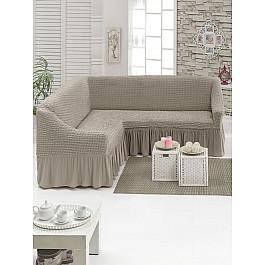 Чехлы для мебели Juanna Чехол на угловой диван JUANNA универсальный, какао
