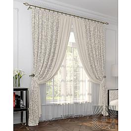 Шторы для комнаты TomDom Комплект штор Мазур, серый, голубой, 275 см степан мазур посланники тени