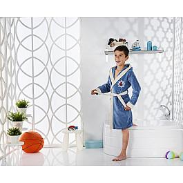 Халат махровый Karna Халат детский велюр KARNA SNOP, на 8-9 лет, парламент детские халаты luxberry детский халат совята цвет жемчужный коричневый белый 7 8 лет