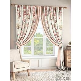 Шторы для комнаты TomDom Комплект штор Пальта, розовый, молочный, 280 см комплект одежды для девочки осьминожка дружба цвет молочный розовый т 3122в размер 56