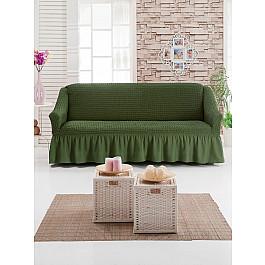 Чехлы для мебели Juanna Чехол для дивана JUANNA трехместный, оливковый чехол для трехместного дивана первый мебельный чехол для дивана милан трехместный