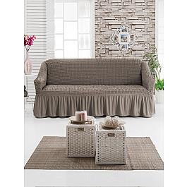 Чехлы для мебели Juanna Чехол для дивана JUANNA трехместный, капучино чехол для трехместного дивана первый мебельный чехол для дивана милан трехместный
