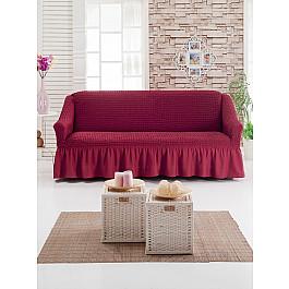 Чехлы для мебели DO&CO Чехол для дивана DO&CO трехместный, бордовый чехол для трехместного дивана первый мебельный чехол для дивана милан трехместный