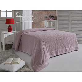 Простыни Karna Простынь махровая KARNA ESRA, грязно-розовая, 160*220 см цена