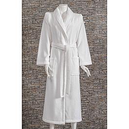 Халат махровый Karna Халат микрокотон женский MORA, белый, р. 2 XL (54-56) халат махровый арт постель халат банный женский с воротником белый р 5xl