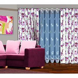 Шторы для комнаты Zlata Korunka Комплект штор №202770-250, розовые цветы невидимка для волос funny bunny розовые цветы 2 шт