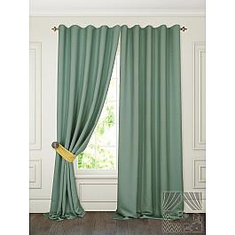 Шторы для комнаты TomDom Комплект штор Тиаго, зеленый фоторамка pata 94739