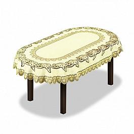Скатерти Wisan Скатерть №227931-120, кремовый, золотой скатерть quelle эго 1024295 120х150