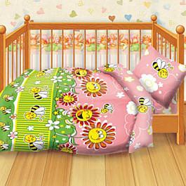 Постельное белье Кошки-Мышки КПБ детский бязь 'Кошки-мышки' КДКм-1 рис.8349-1 Пчелки наволочка для подушки кошки мышки