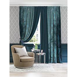 Шторы для комнаты TomDom Комплект штор Киопи (темно-бирюзовый) зимний конверт womar 48 exclusive темно бирюзовый светло бирюзовый